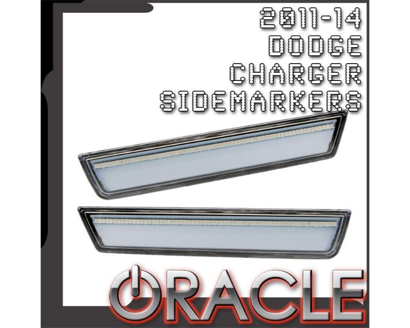 Oracle Lighting 9834-PR3-C Concept Sidemarker Rear Set Torred - CLEAR Dodge Charger 2011-2014