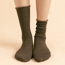 Simple Fluffy Socks
