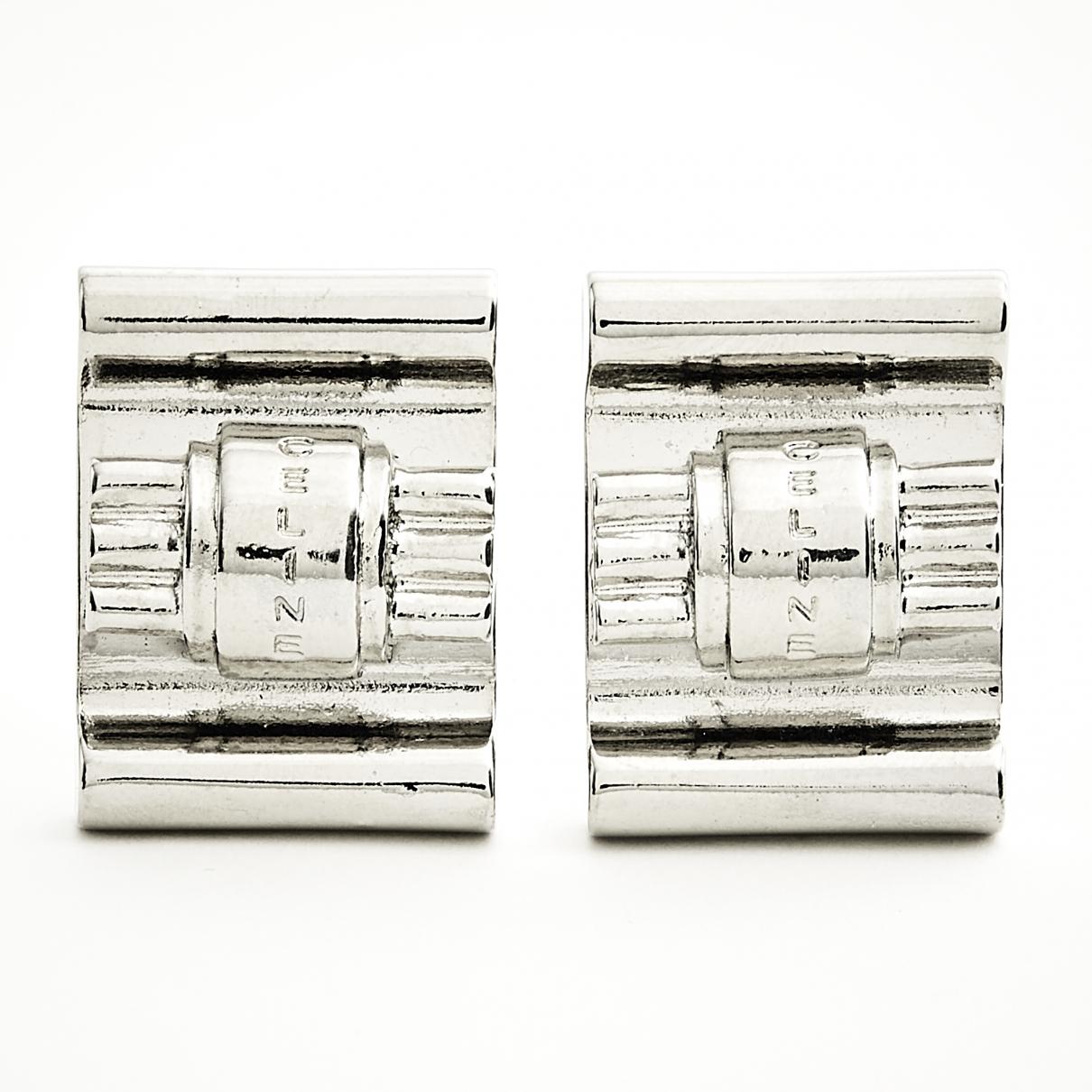 Celine \N OhrRing in  Silber Metall