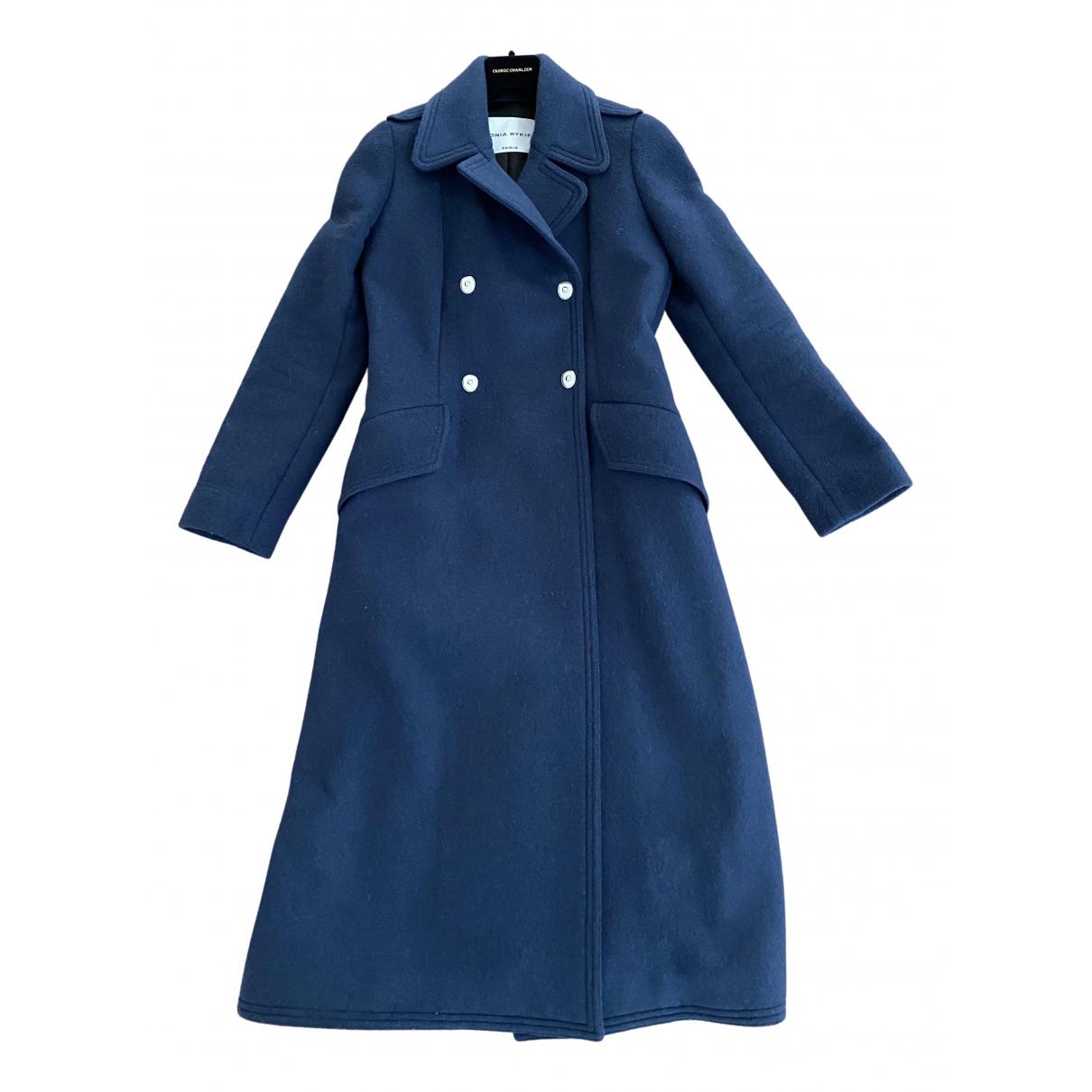 Sonia Rykiel \N Maentel in  Blau Wolle