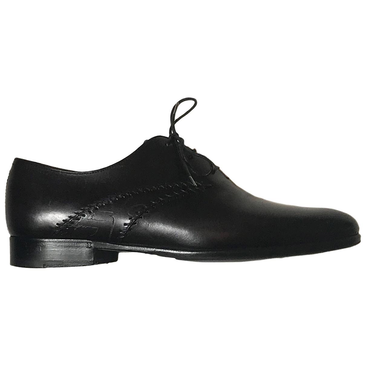 Berluti \N Black Leather Lace ups for Men 7 UK