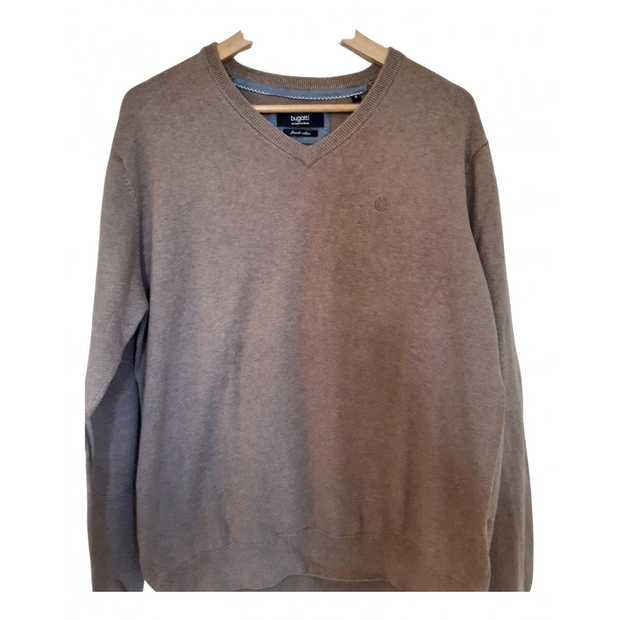Bugatti \N Pullover.Westen.Sweatshirts  in  Braun Baumwolle