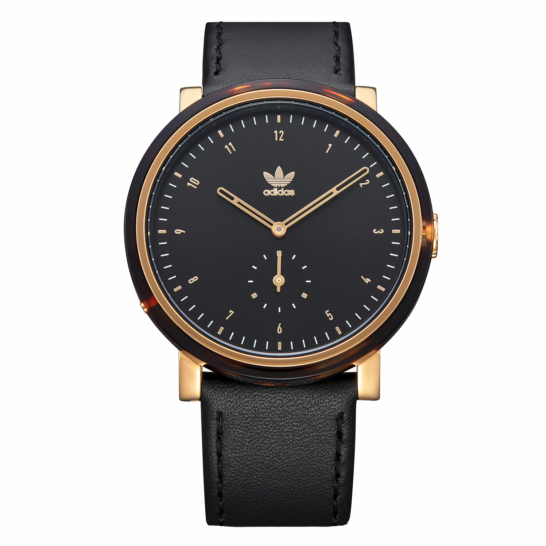 Adidas Men's District Al3 Z19 3246-00 Black Leather Quartz Fashion Watch