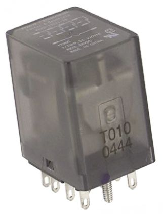 TE Connectivity , 12V dc Coil Non-Latching Relay 4PDT, 3A Switching Current Plug In, 4 Pole