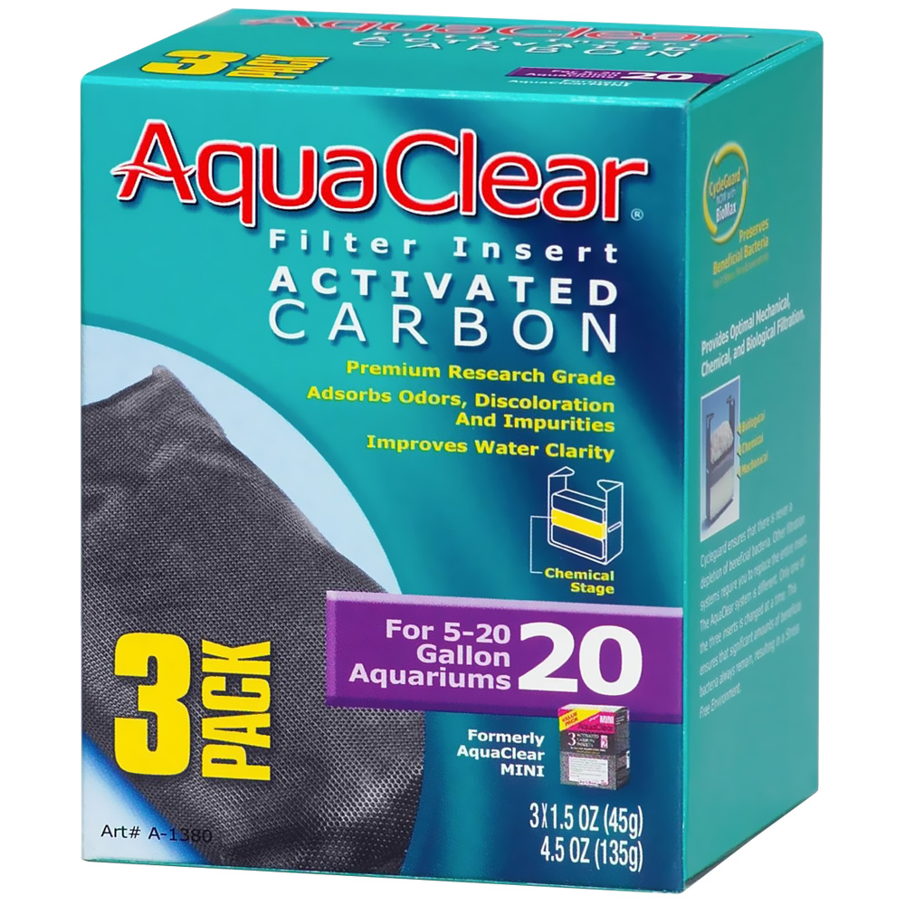 AquaClear 20 Filter Insert Activated Carbon (3 pack)