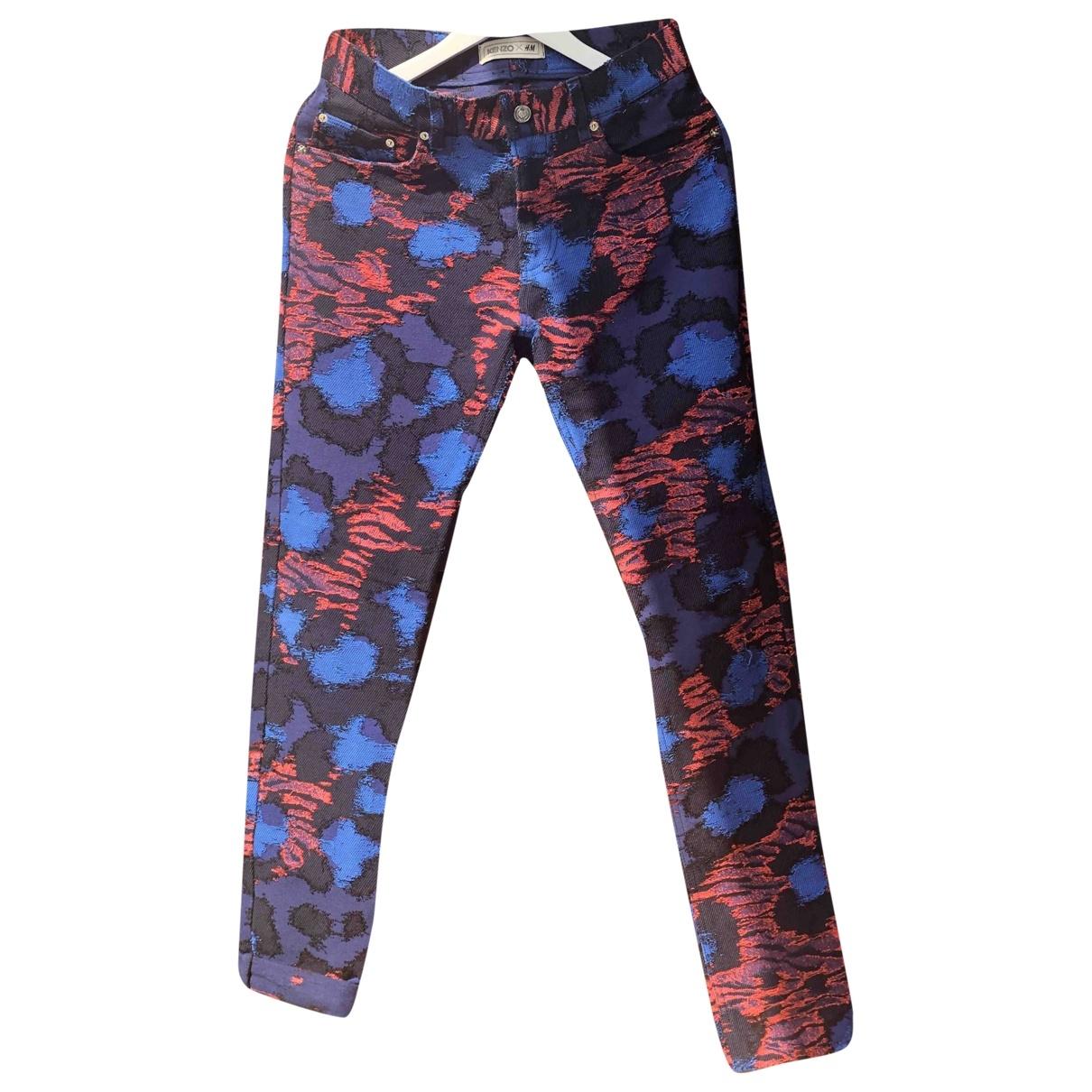 Kenzo X H&m \N Multicolour Cotton Trousers for Women M International