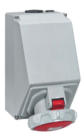 Legrand IP67 Red Wall Mount 3P+N+E Industrial Power Socket, Rated At 125.0A, 415.0 V