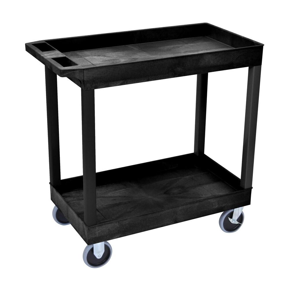 Luxor EC111HD-B 3-shelf High-capacity Tub Cart (35 1/4