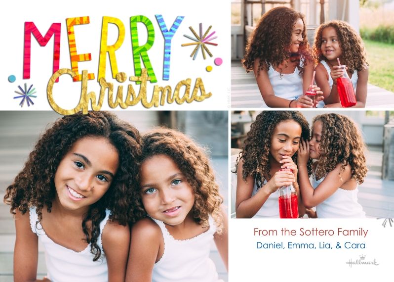 Christmas Photo Cards 5x7 Cards, Premium Cardstock 120lb, Card & Stationery -Colorful & Bright Christmas