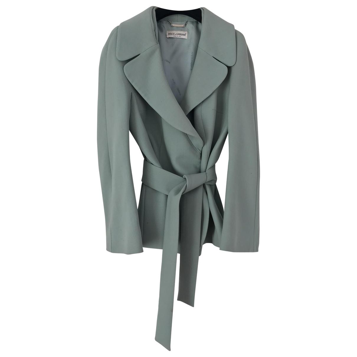 Dolce & Gabbana - Veste   pour femme en laine - turquoise