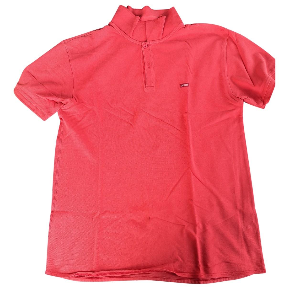 Levis - Polos   pour homme en coton - rouge