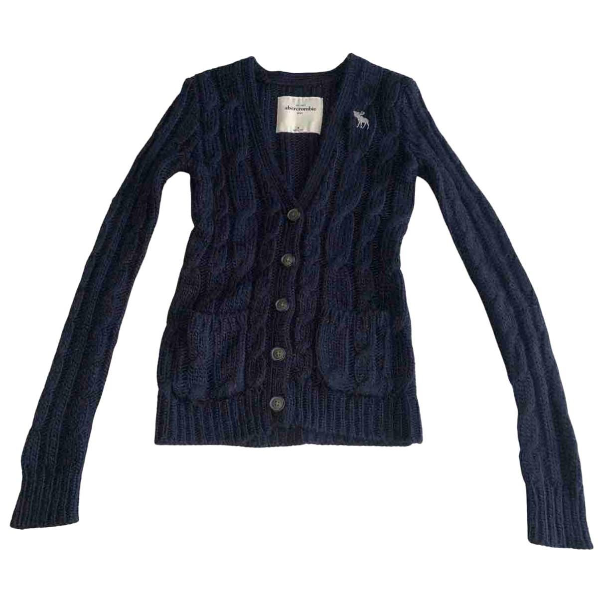 Abercrombie & Fitch - Pull   pour enfant en laine - bleu