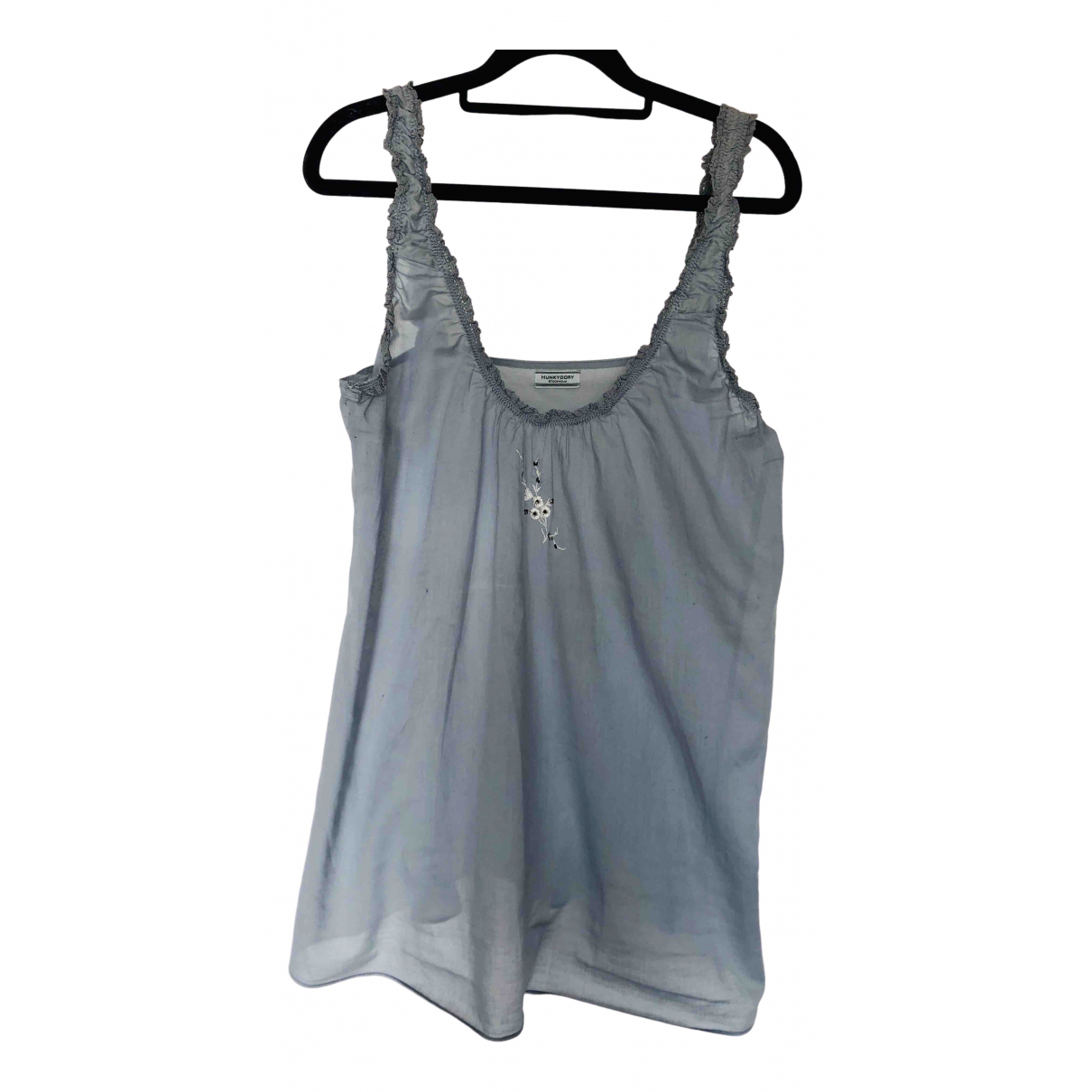 Hunky Dory N Blue Cotton  top for Women S International