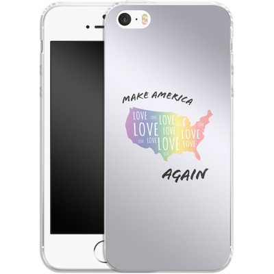 Apple iPhone 5s Silikon Handyhuelle - Make America Love Again von caseable Designs