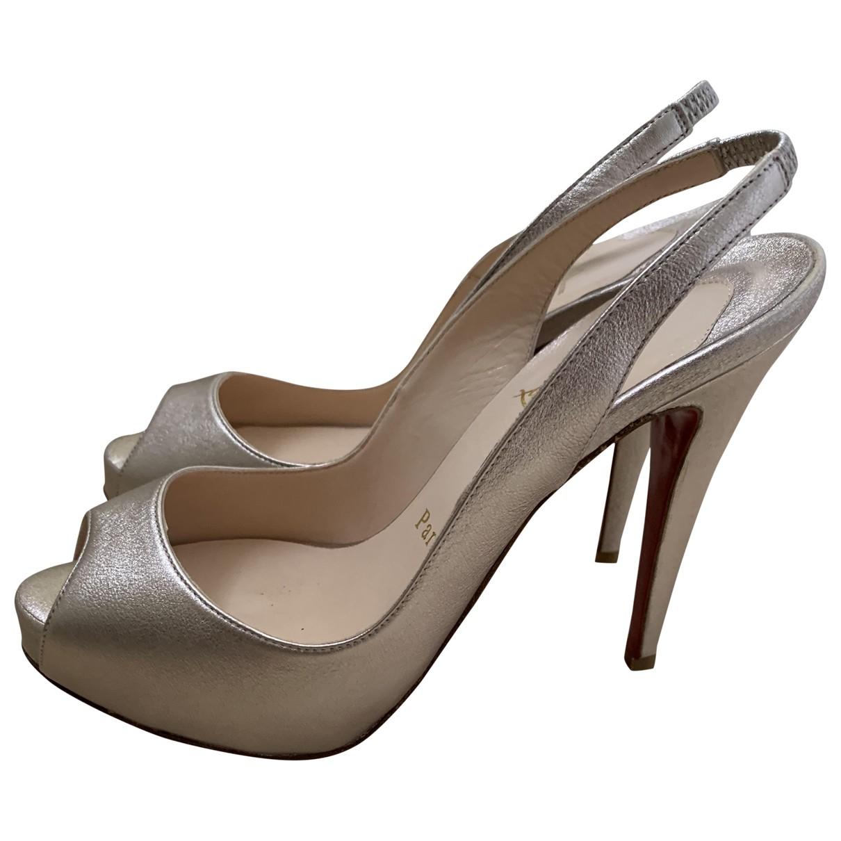 Tacones Private Number de Cuero Christian Louboutin