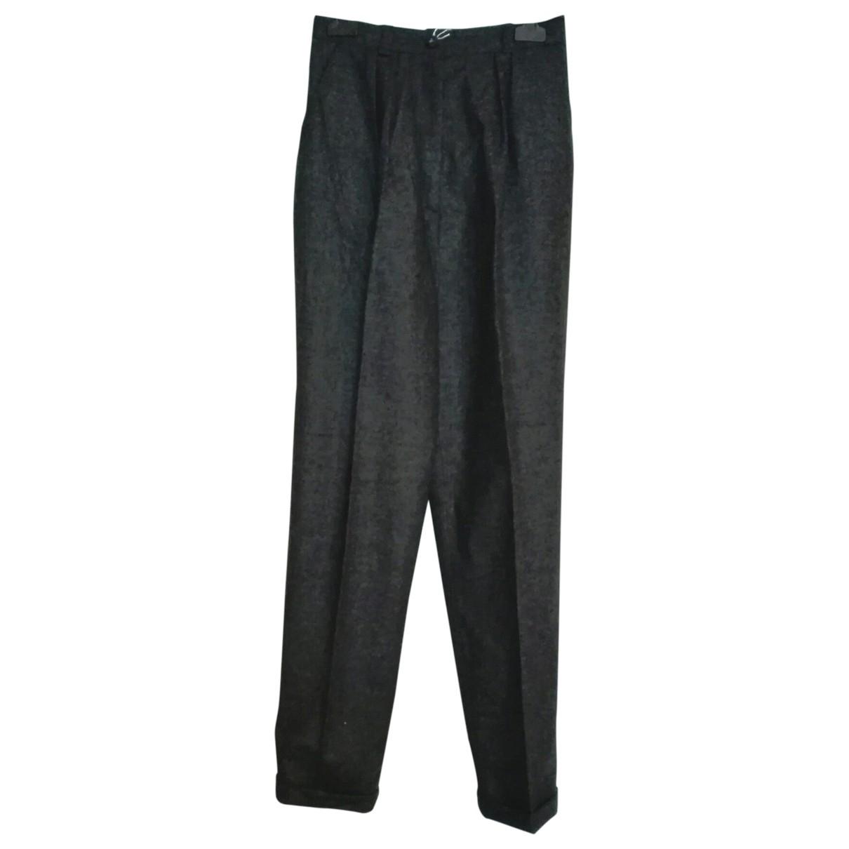 Versace \N Grey Wool Trousers for Women 42 IT