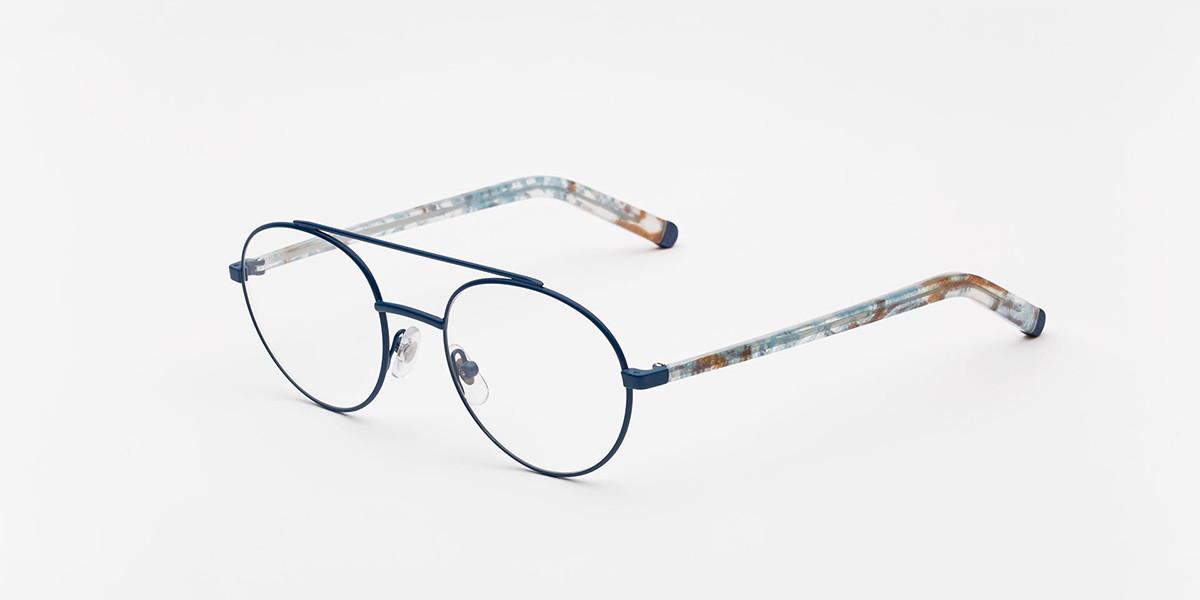 Retrosuperfuture Numero 32 Blu Cobalto IE2E SU1 Men's Glasses Blue Size 50 - Free Lenses - HSA/FSA Insurance - Blue Light Block