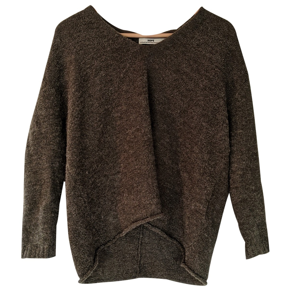 Hope N Khaki Wool Knitwear for Women 34 FR
