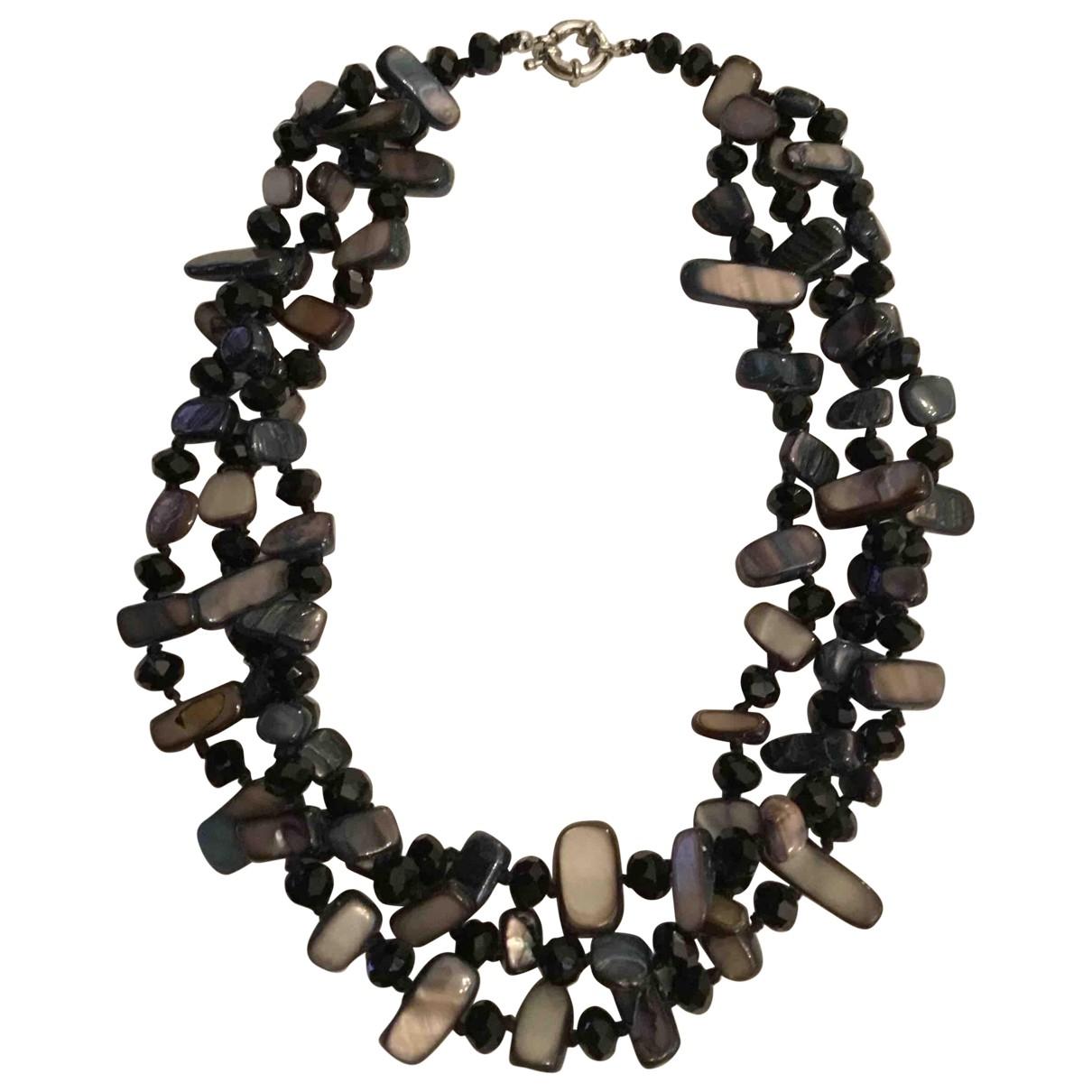 - Collier   pour femme en perles - noir