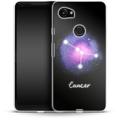 Google Pixel 2 XL Silikon Handyhuelle - CANCER von Becky Starsmore