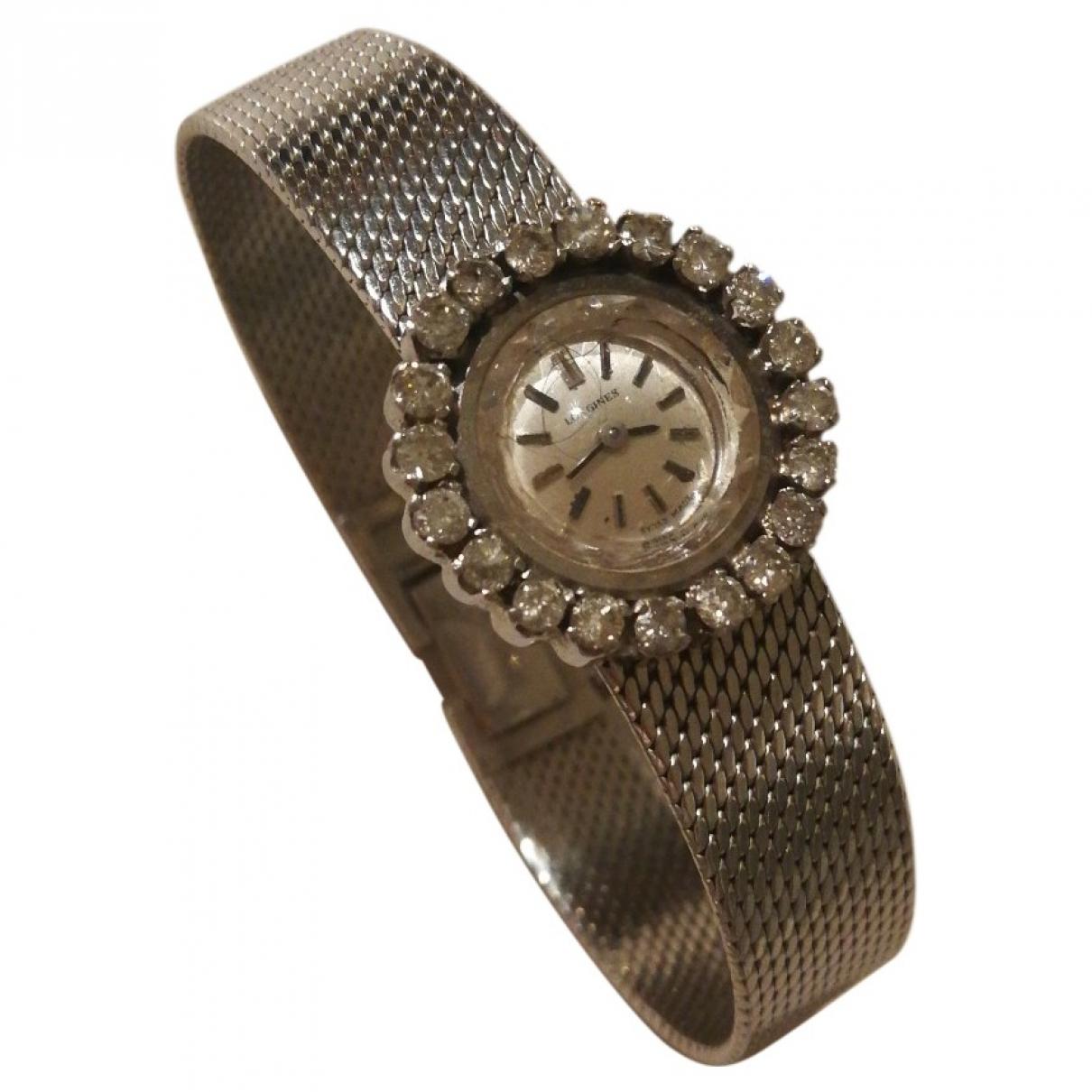 Longines \N Uhr in  Silber Weissgold