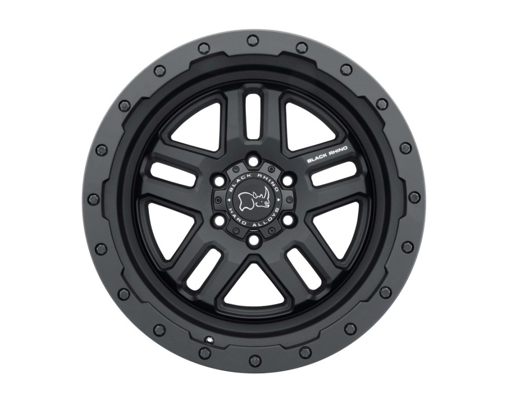 Black Rhino Barstow Textured Matte Black Wheel 18x9.5 6x135 12mm CB87.1
