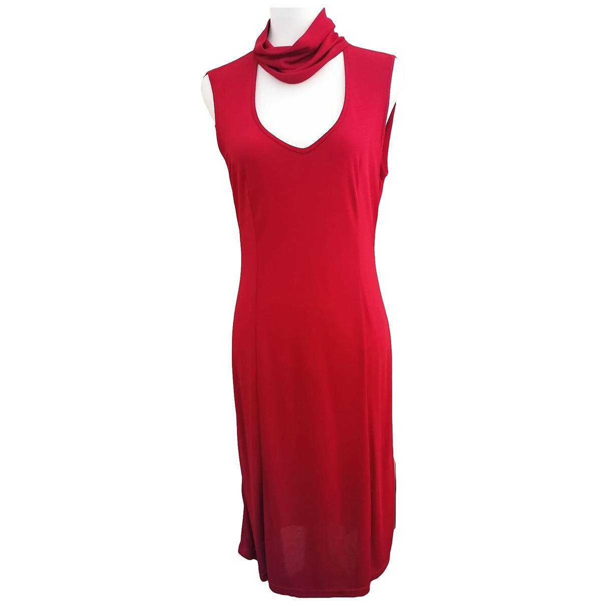 Trussardi \N Kleid in  Rot Viskose