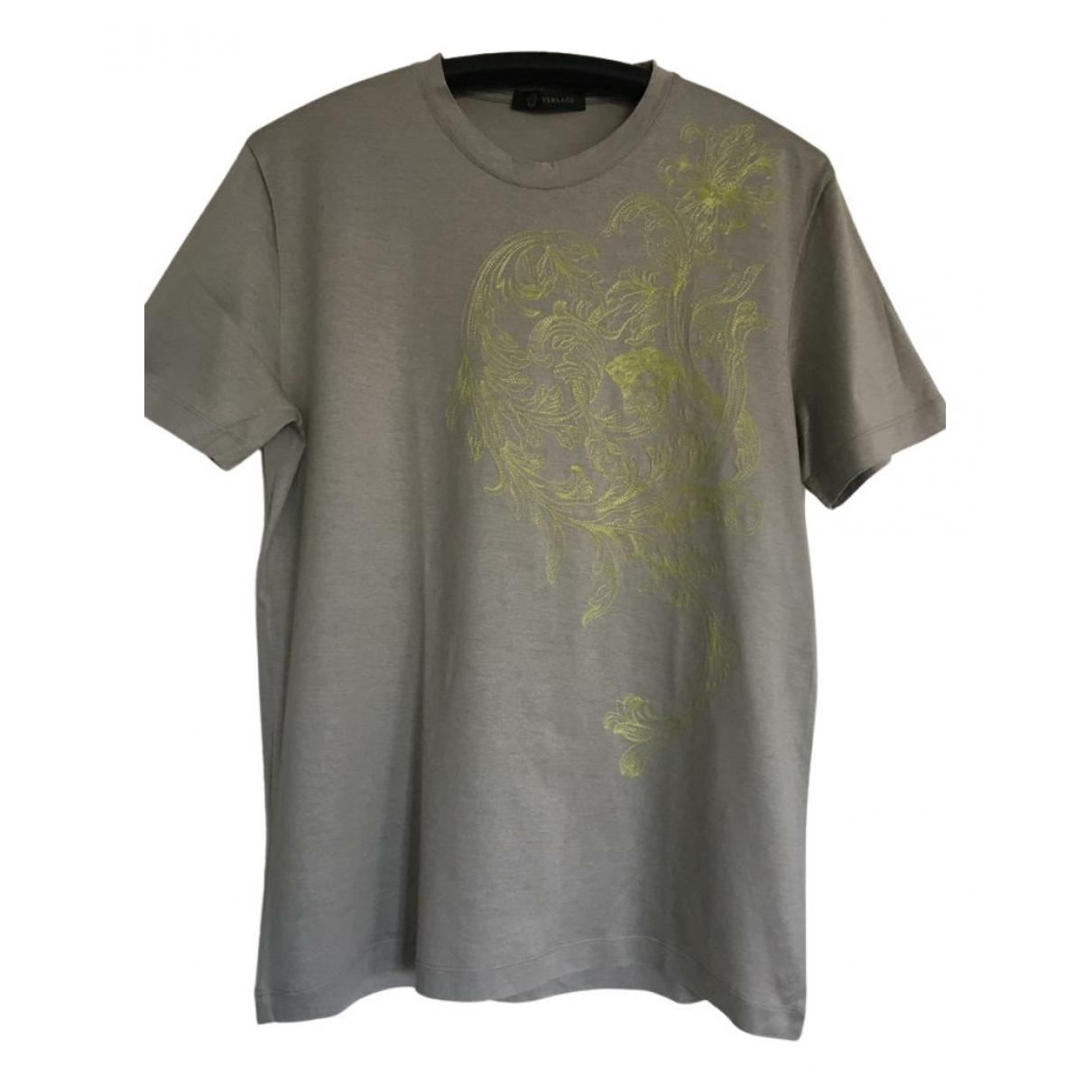 Versace - Tee shirts   pour homme en coton - gris