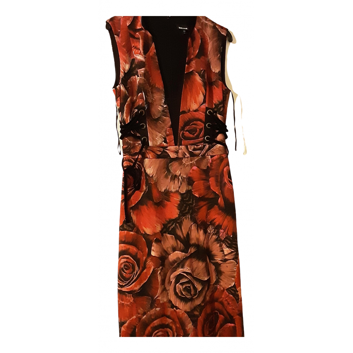 Just Cavalli \N Red Cotton - elasthane dress for Women 44 IT