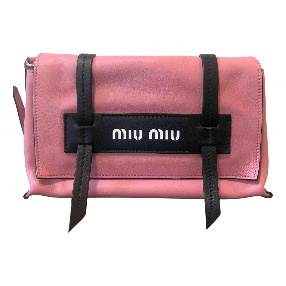 Miu Miu - Sac a dos   pour femme en cuir - rose