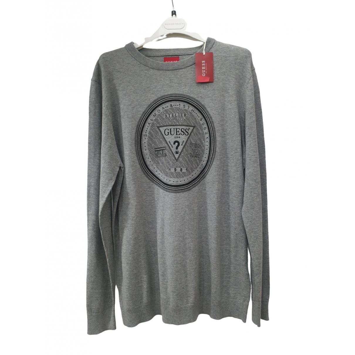 Guess \N Pullover.Westen.Sweatshirts  in  Grau Baumwolle