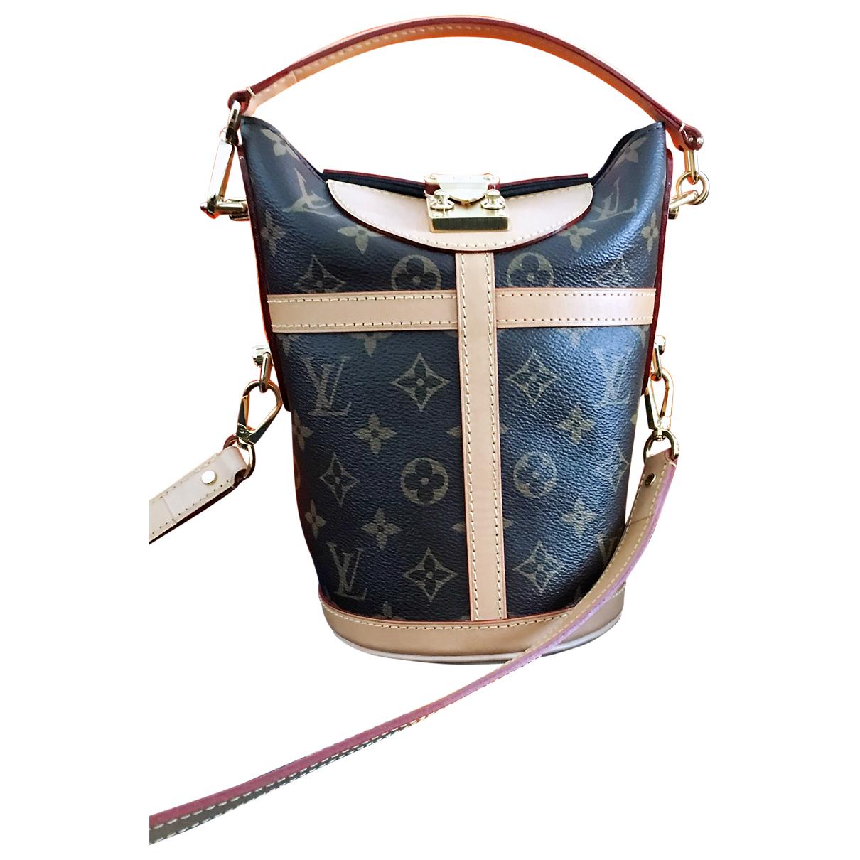 Louis Vuitton - Sac a main Duffle pour femme en toile - marron