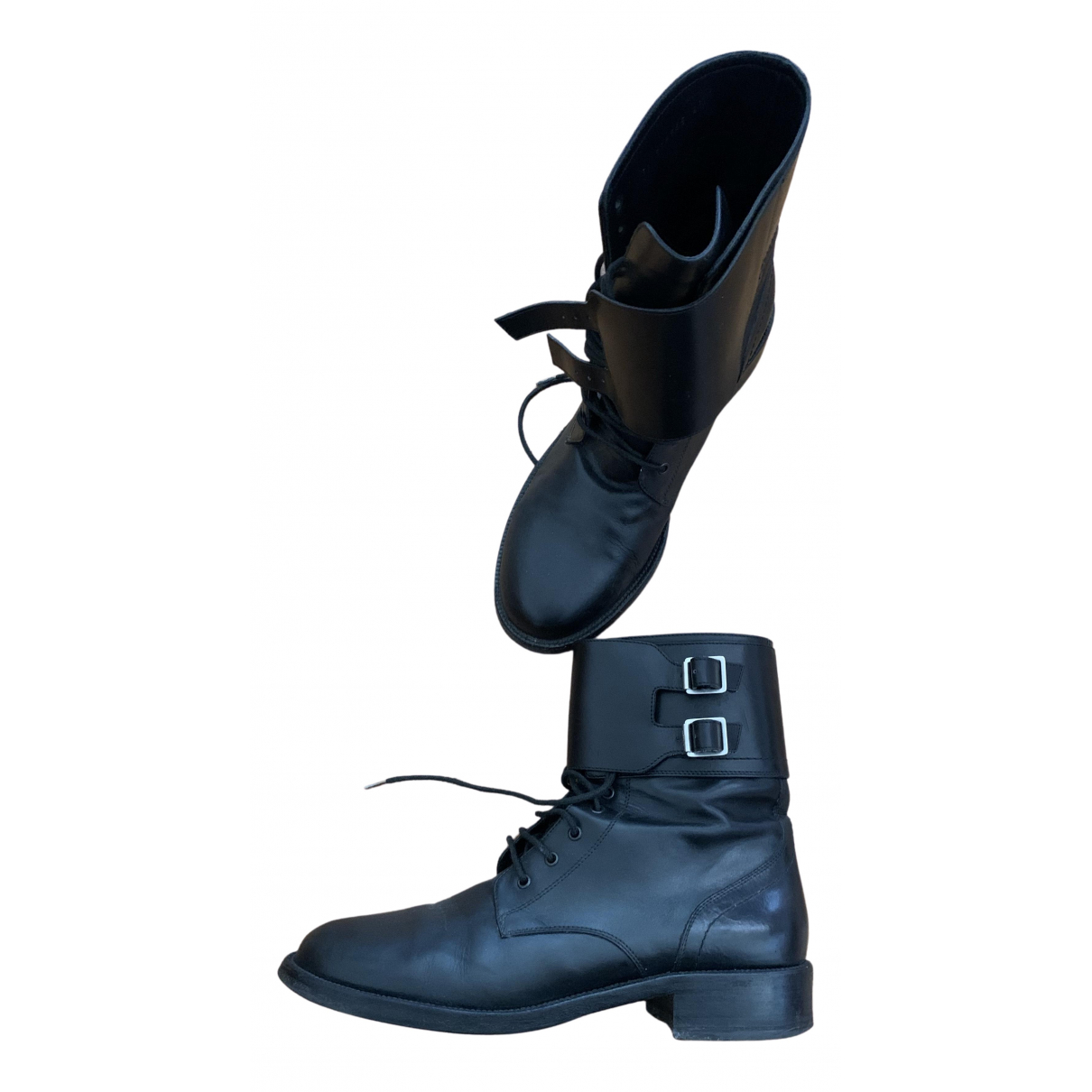 Saint Laurent N Black Leather Ankle boots for Women 40 IT