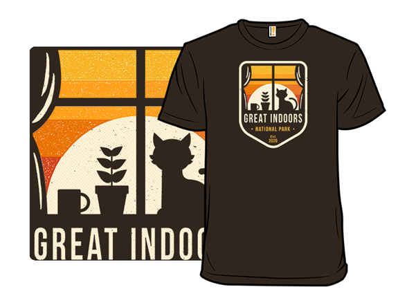 Great Indoors National Park T Shirt