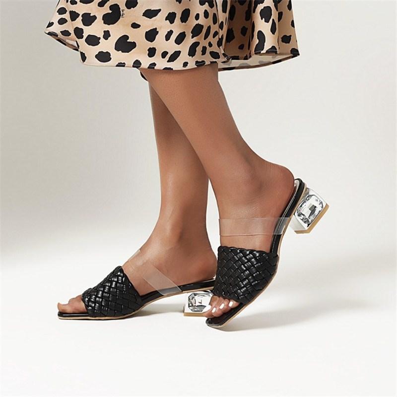 Ericdress Chunky Heel Slip-On Flip Flop Casual Slippers
