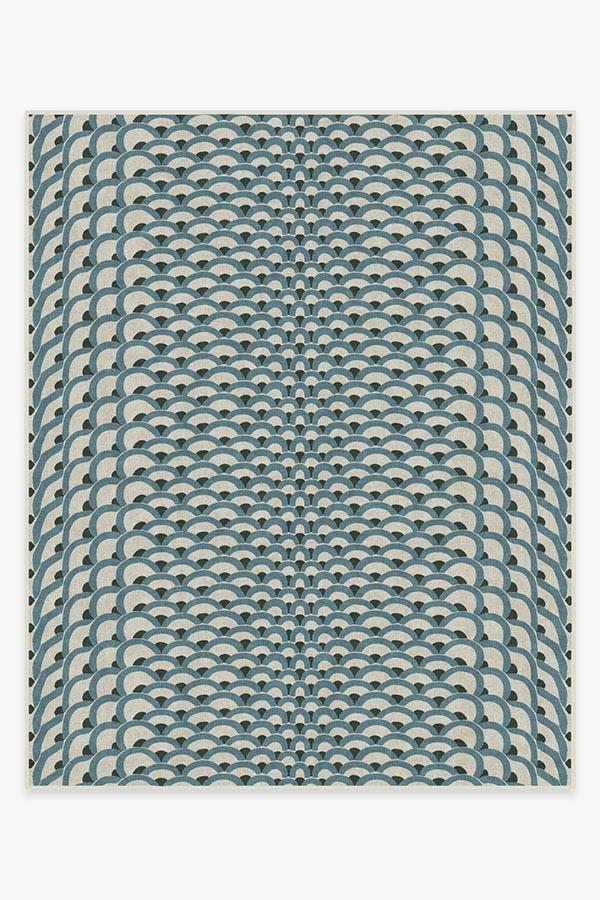 Washable Rug Cover   Cynthia Rowley Lamella Jade Rug   Stain-Resistant   Ruggable   8'x10'