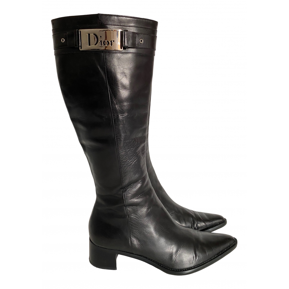 Dior \N Black Leather Boots for Women 41 EU