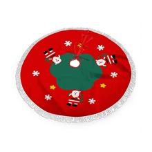 Falda de arbol de navidad con estampado de Santa Claus
