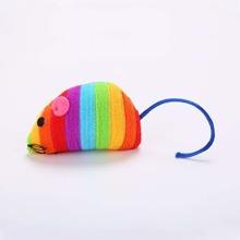 Katzenspielzeug in Mausform mit buntem Streifen