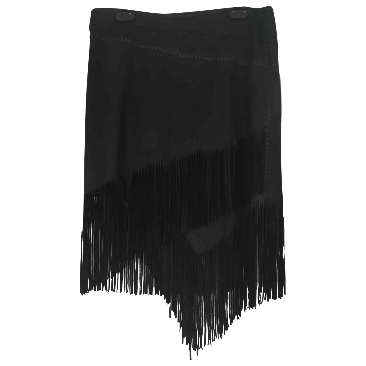 Polo Ralph Lauren \N Rocke in  Schwarz Leder