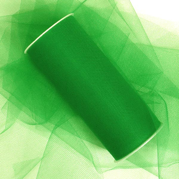 Fabric Cloth Emerald Green Tulle 6 X 25 Yards by Ribbons.com
