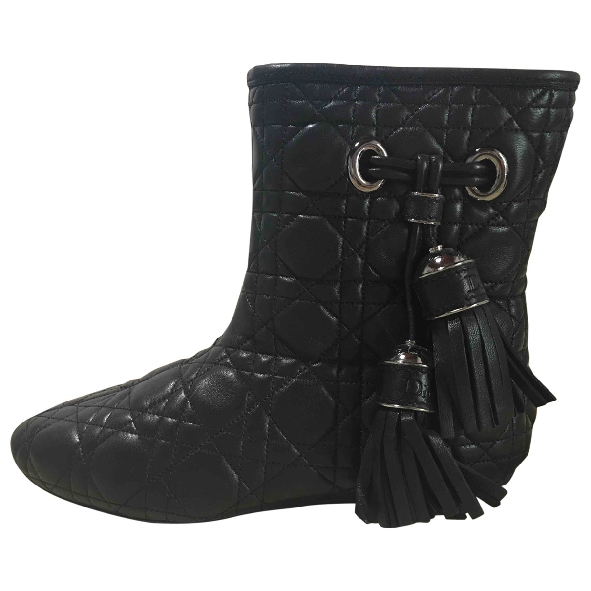 Dior \N Black Leather Ankle boots for Women 39 IT