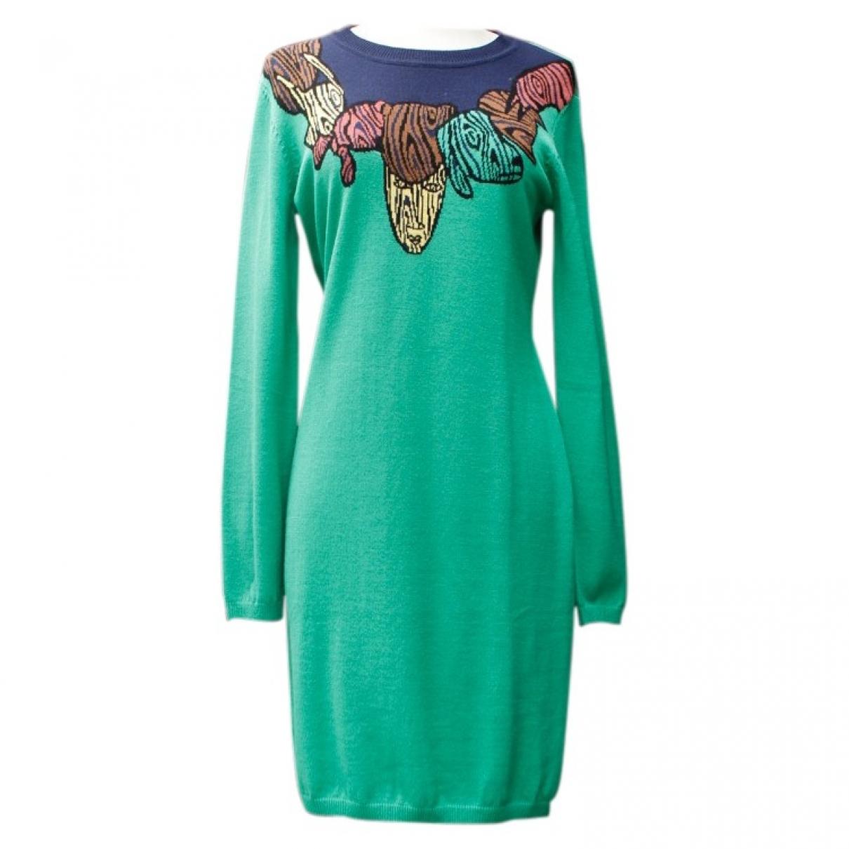 Jc De Castelbajac \N Kleid in  Gruen Wolle