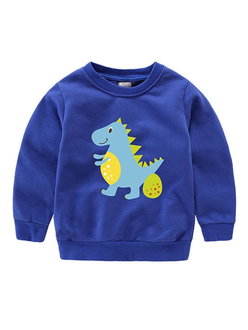 Ericdress Dinosaur Printed Long Sleeve Fall Boys T-Shirt