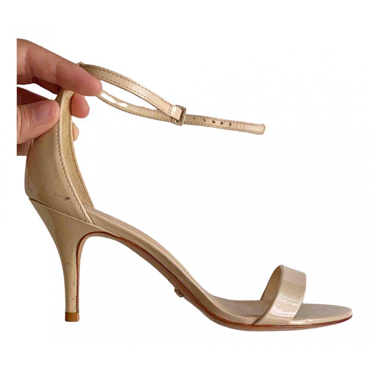 Schutz - Sandales   pour femme en cuir verni - beige