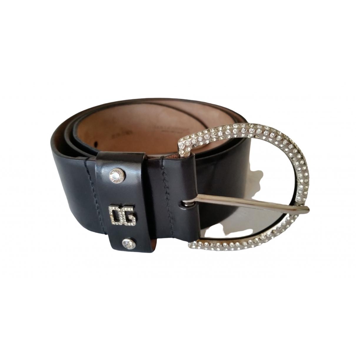 Dolce & Gabbana \N Black Leather belt for Women 80 cm