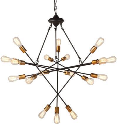 Element Collection ZWGEC306-7 Industrial Multi-Light Chandelier in