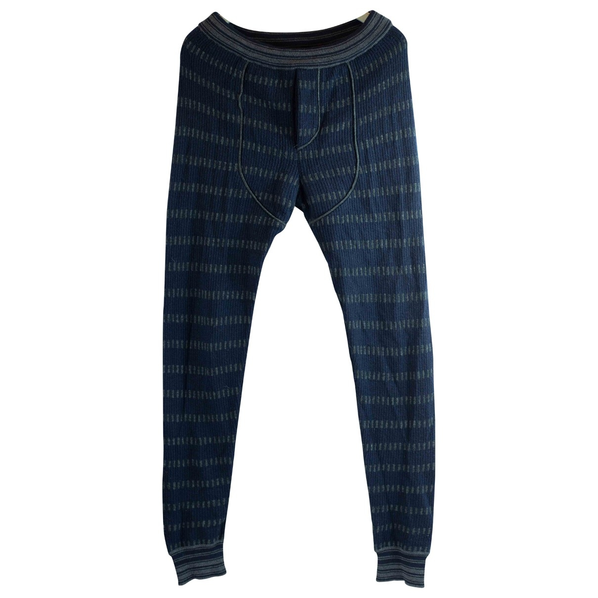 Marni \N Blue Wool Trousers for Men 48 IT
