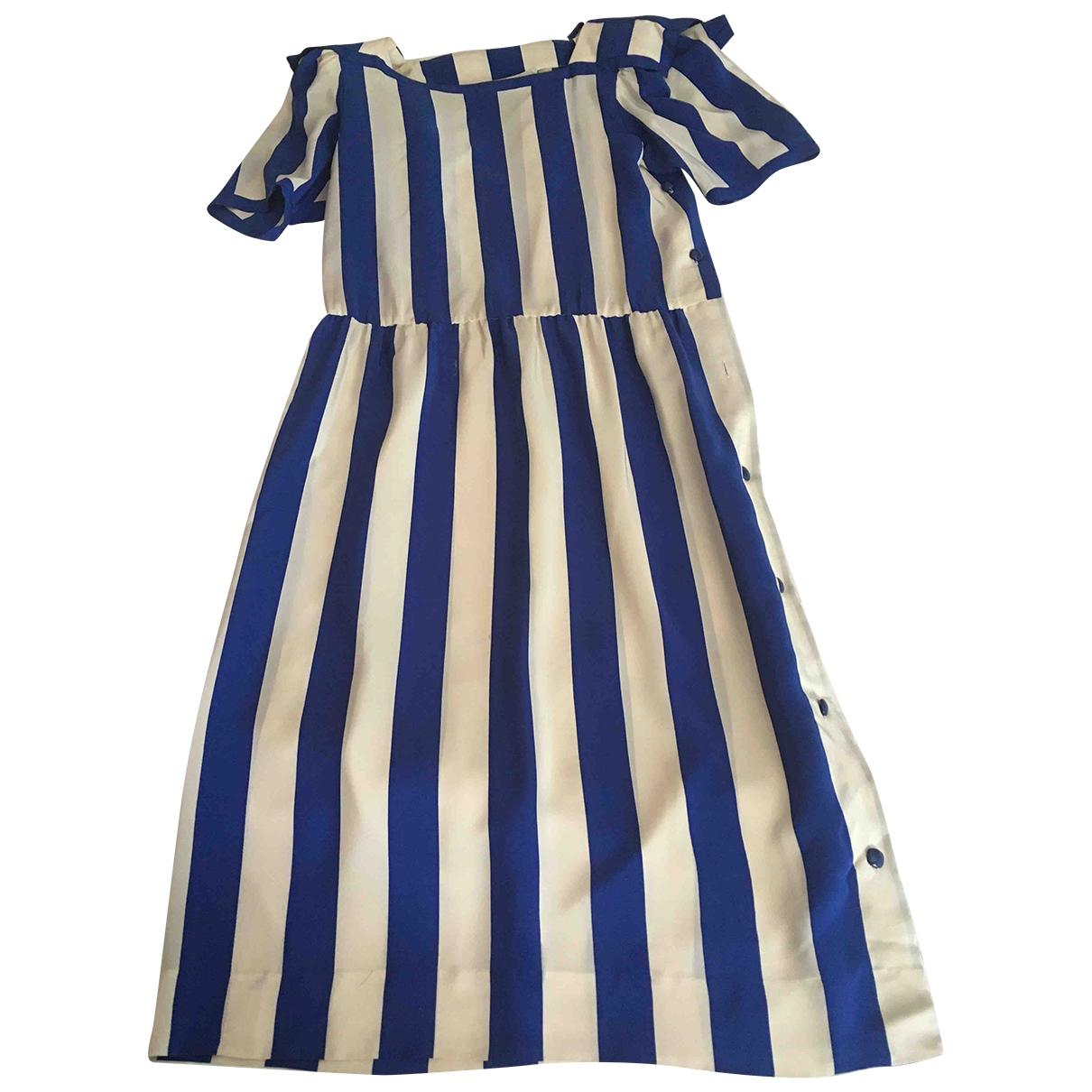 Nipon Boutique - Robe   pour femme en soie - bleu