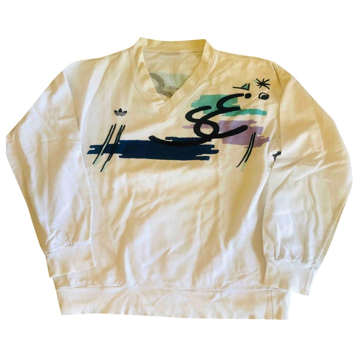 Adidas - Pulls.Gilets.Sweats   pour homme en coton - blanc